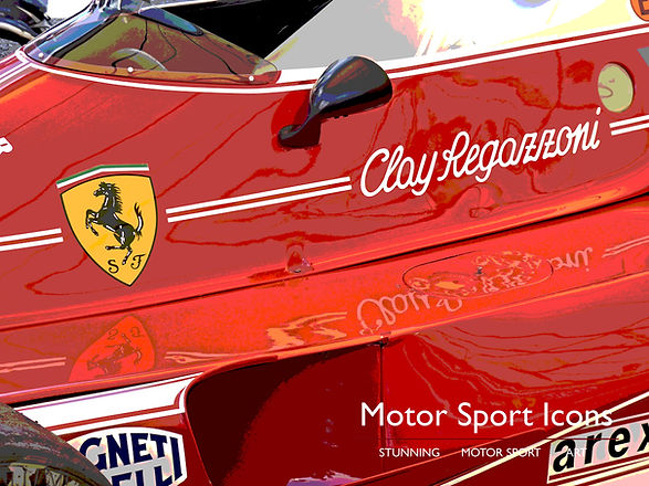 'CLAY' print on aluminium by Motor Sport Icons