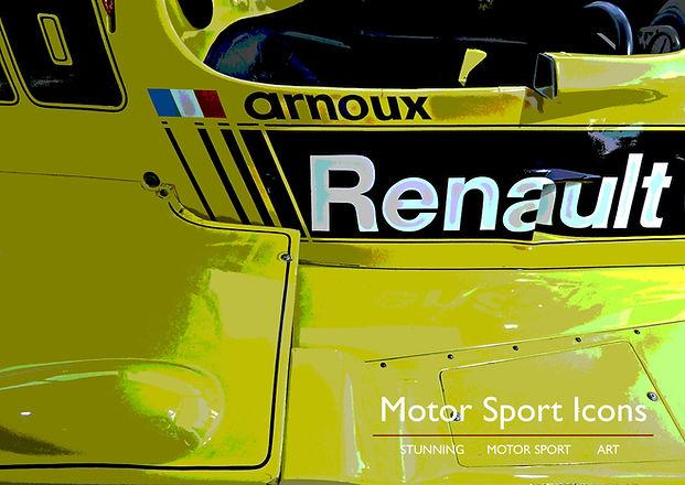 ARNOUX Motor Sport Icons print on aluminium