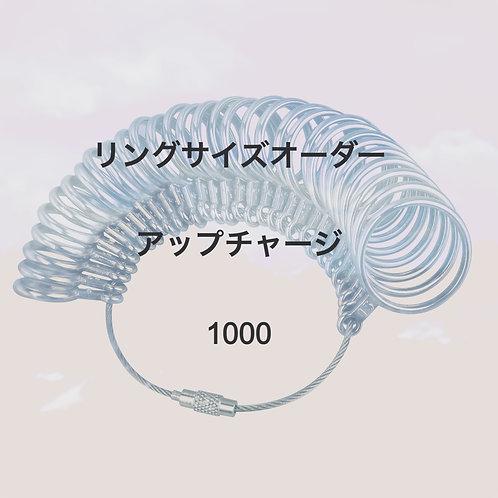 リングサイズのオーダー1000
