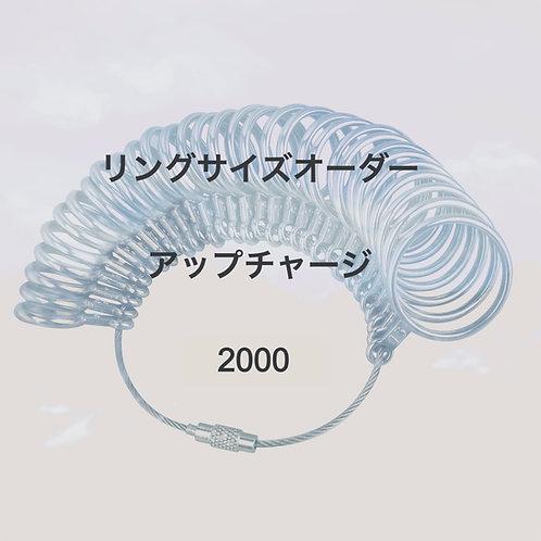 リングサイズのオーダー2000