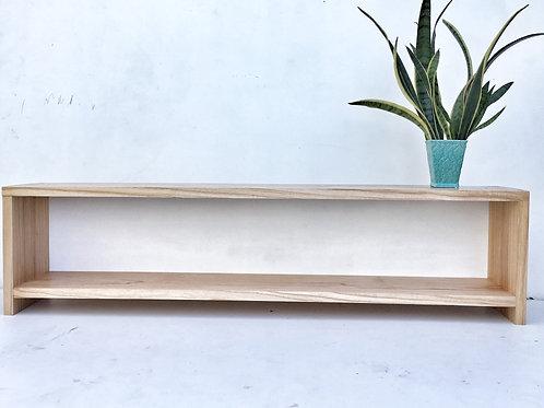 Mesa baja aparador TV con tapa de fondo. 180 cm largo