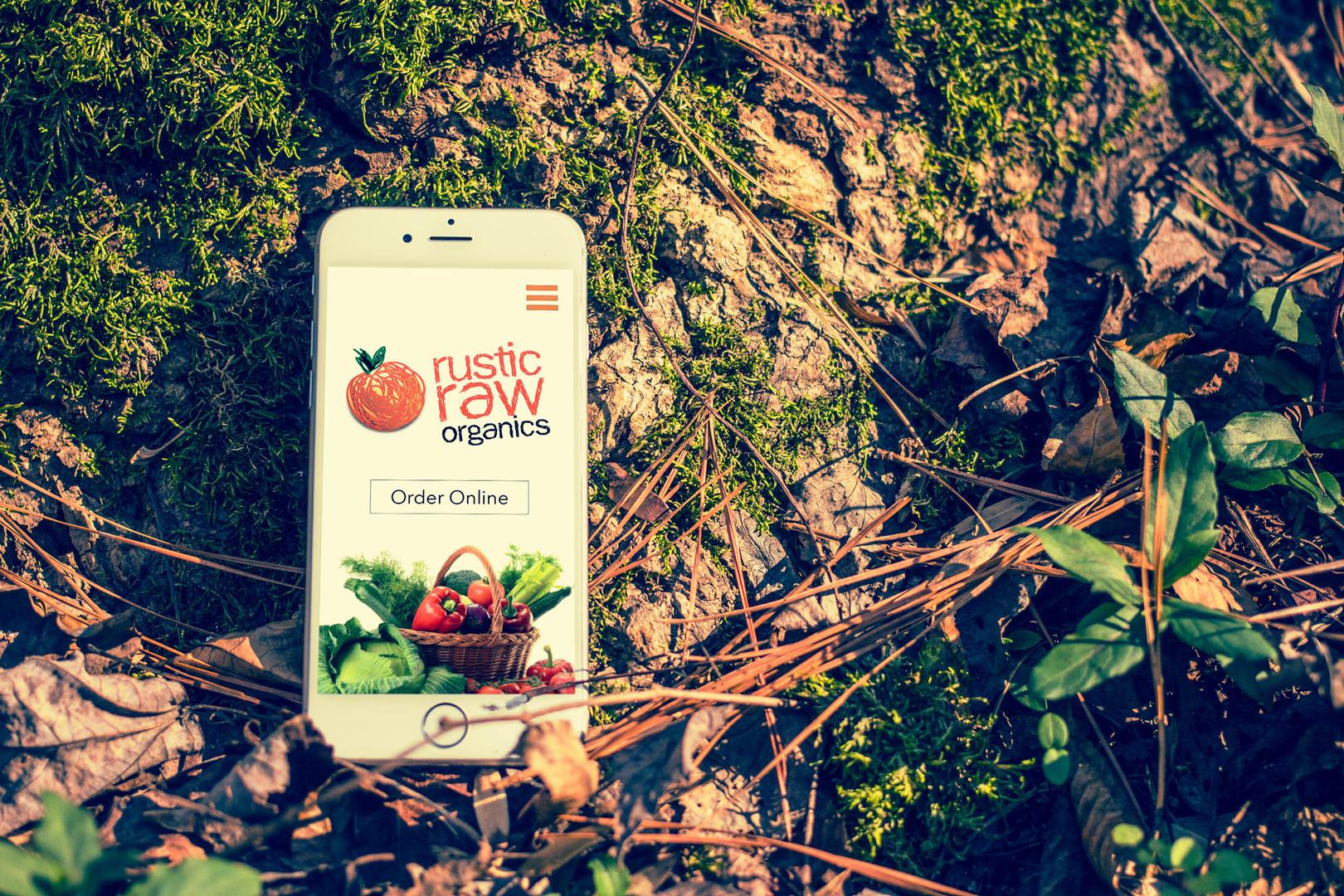 Rustic Raw Mobile Website