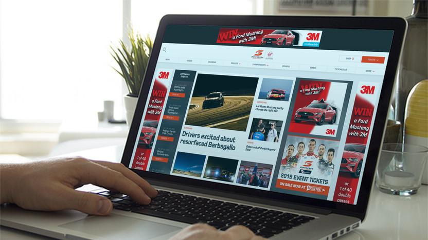 Supercars Website Advertising