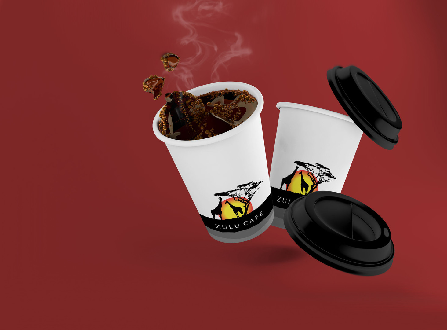 Zulu Cafe Logo Design