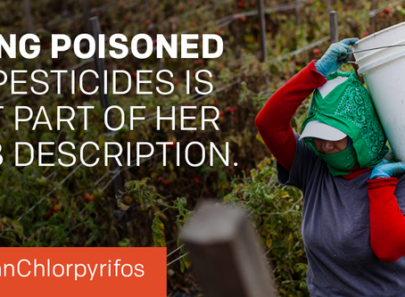 Ban pesticide linked to brain damage in children -- EPA must take immediate action to ban chlorpyrif