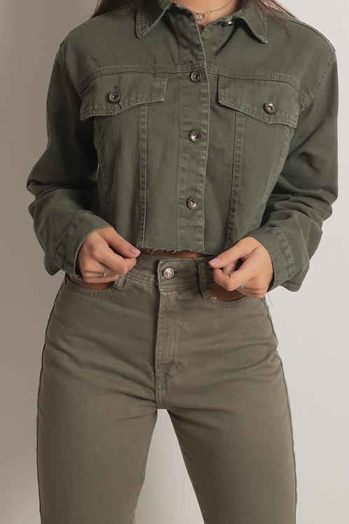 Jaqueta Jeans  Militar