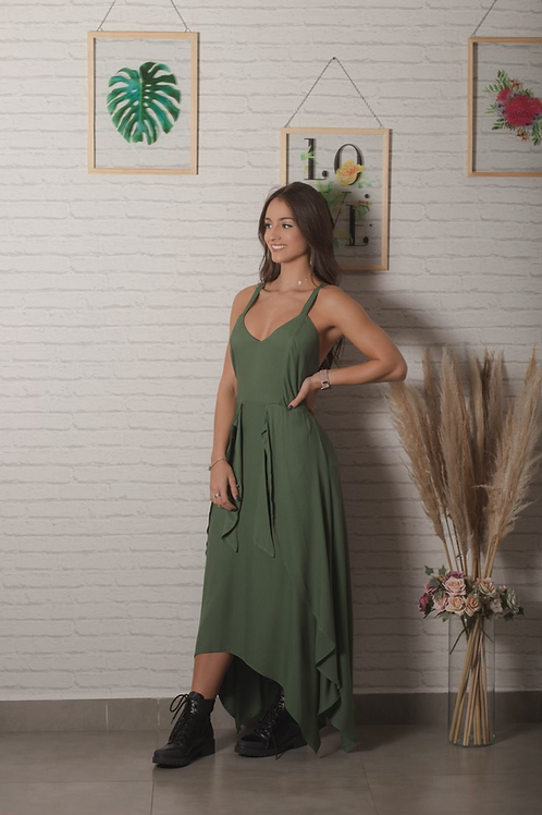 Vestido Jeniffer - Verde Militar