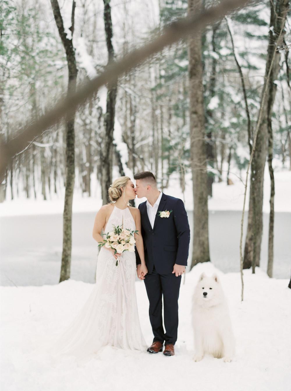 connecticut rustic winter wedding