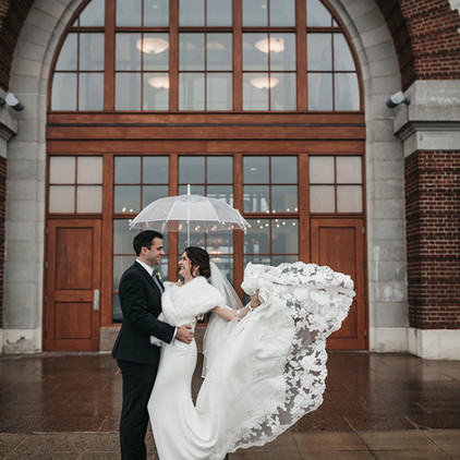 Brennah and Alex's Ethereal Winter Wedding in downtown Boston