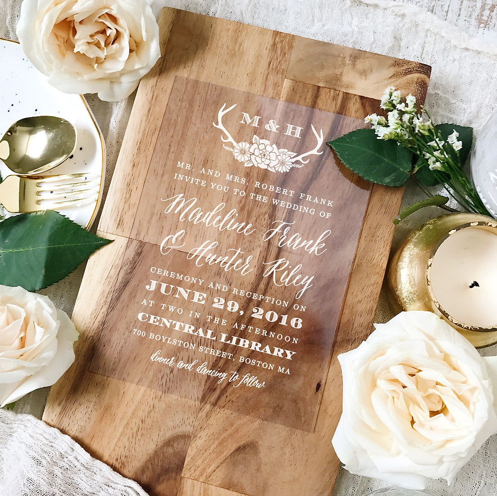 Country Rustic Wedding Invitation