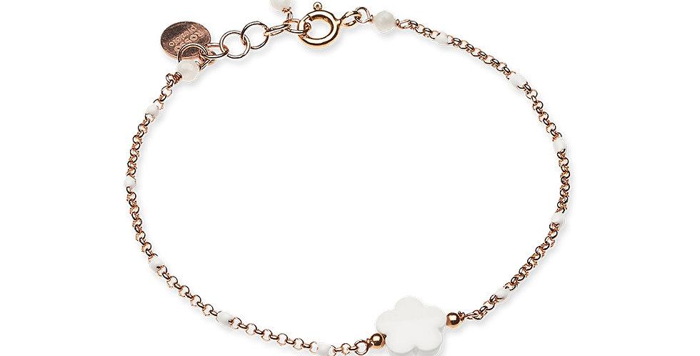 Rosso Prezioso braccialetto fiore mini 21023 wa bianco