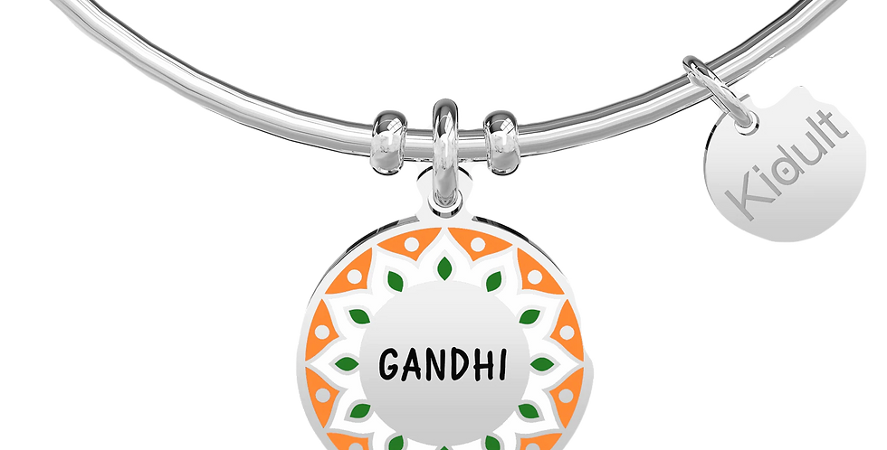 KIDULT bracciale GANDHI : 731884  BE THE CHANGE YOU WISH TO SEE IN THE WORLD