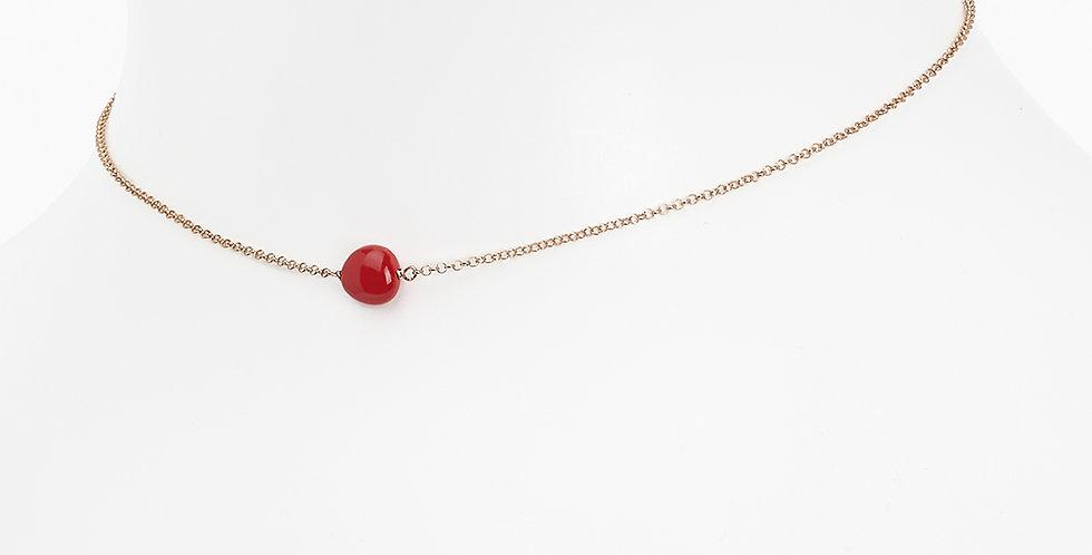 Rosso Prezioso  Girocollo Semino d'Amore colore rosso 21405wa