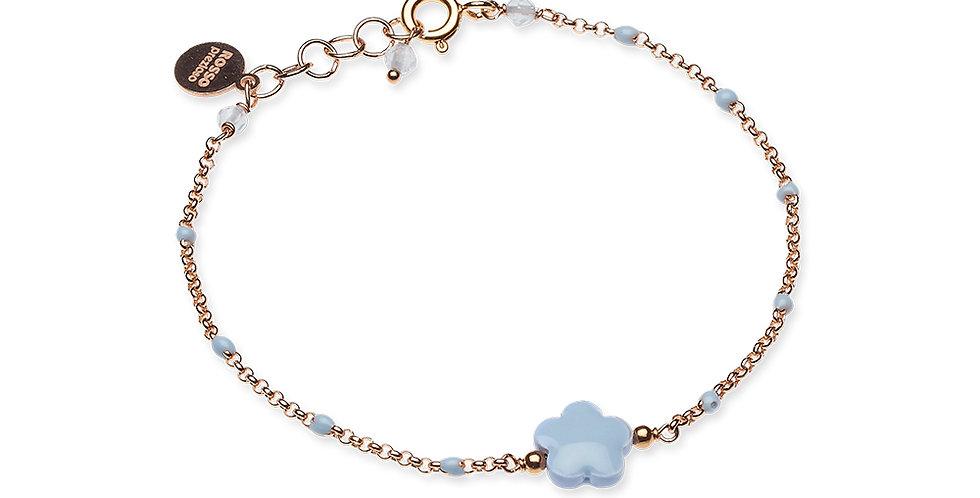 Rosso Prezioso braccialetto fiore mini 21023 wa  azzurro