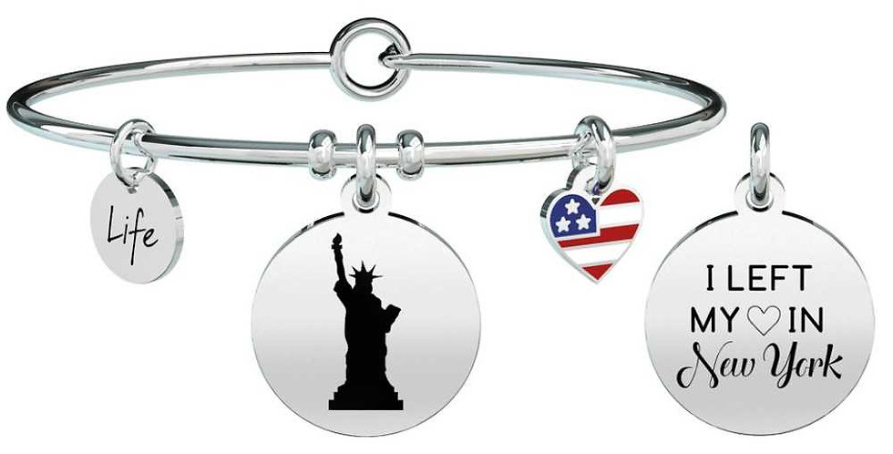 """KIDULT  bracciale"""" FreeTime"""" 731596 I LEFT MY HEART IN NEW YORK"""