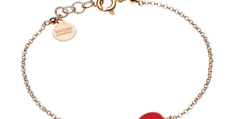 Rosso Prezioso braccialetto Semino d'Amore colore rosso gold 21406wa