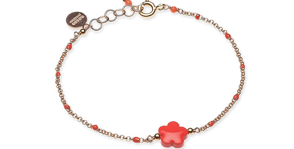 Rosso Prezioso braccialetto fiore mini 21023 wa  rosso