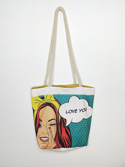 "Tote bag XXL ""Love You"""