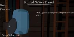 Rusted Water Barrel