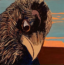 Esther Munger-Raven with Attitude-acryli