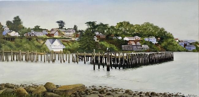 FranNielsen-Old Wharf at Bodega Bay-acry