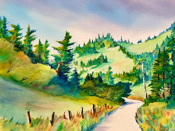 Sky Richardson-Fish Rock Road-Watercolor