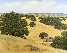 Fran Nielsen-California Hills-acrylic.jp
