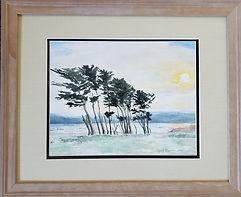 AprilLynch-CypressTrees-Framed-Watercolo