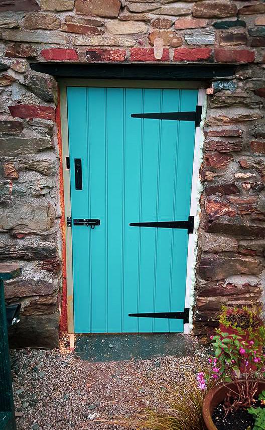 Bespoke Handmade Turquoise Door