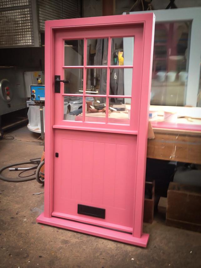 Bespoke Handmade Pink Door