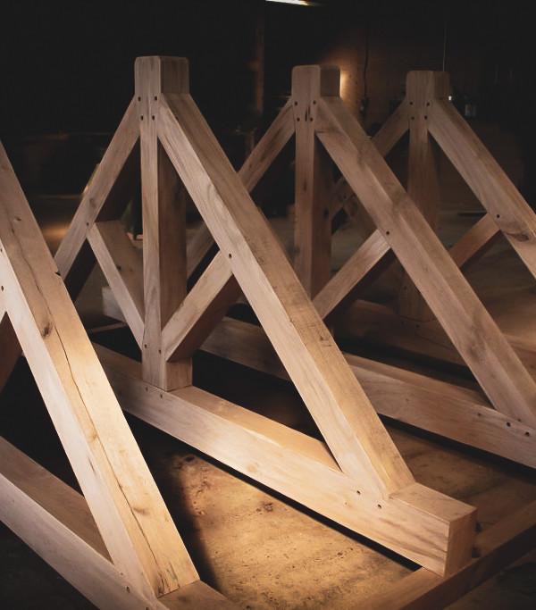 Construction : Oak King Post Truss