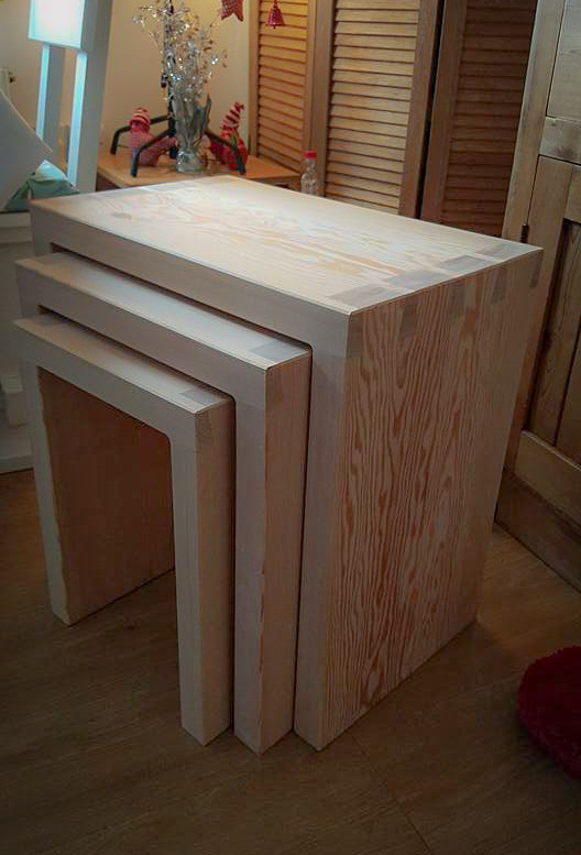 Handmade Bespoke Furniture : Nest of Tables