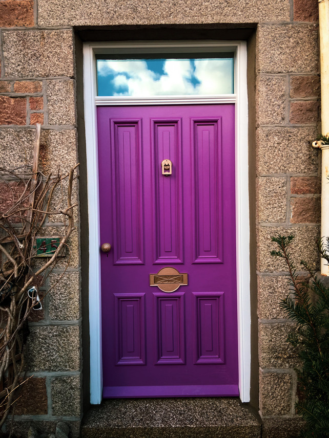 Handmade Bespoke Purple Door