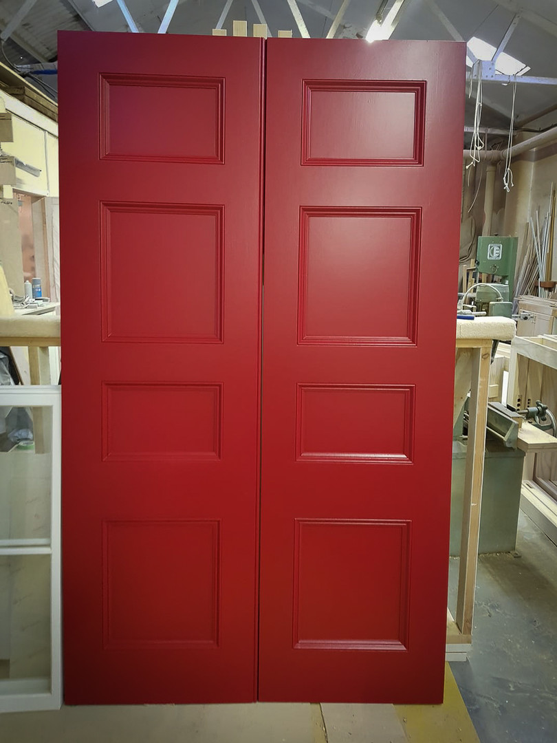 Handmade Bespoke Red Doors