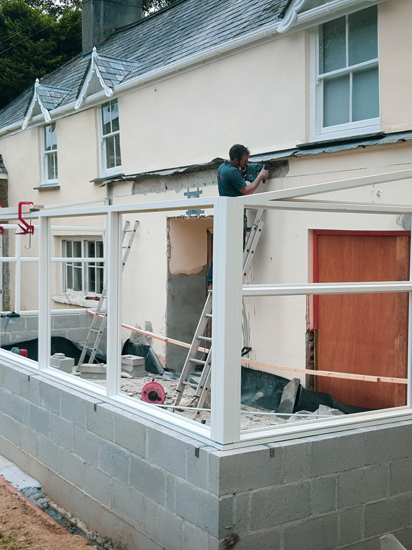 Conservatory Extension Work