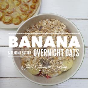 Banana & Almond Butter Overnight Oats