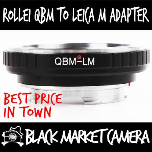 Rollei QBM Lens to Leica M Body Adapter