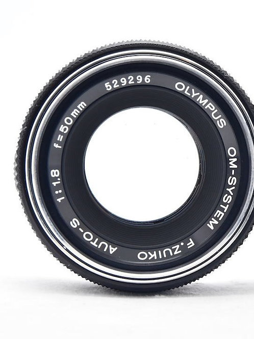 Olympus OM 50mm F1.8 F.Zuiko Auto-S Silver Nosed (used)
