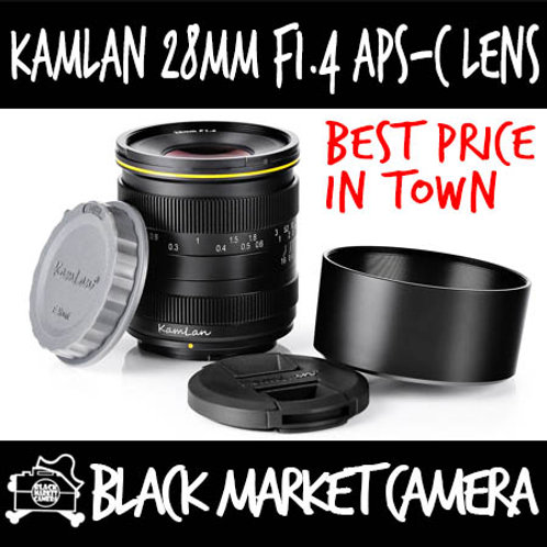 Kamlan 28mm F1.4 APSC Lens (Micro 4/3 Mount)