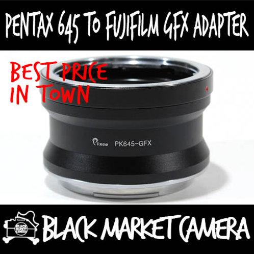 Pentax 645 to GFX Lens to Fujifilm GFX Camera
