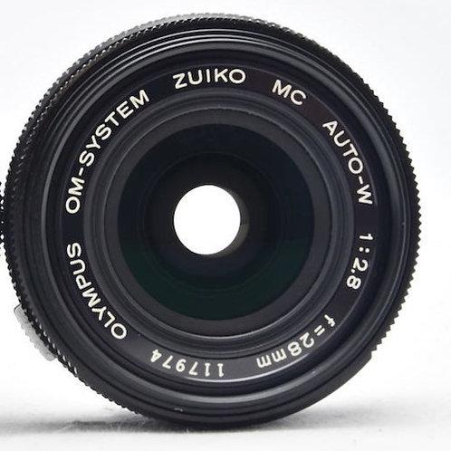 Olympus 28mm F2.8 Zuiko MC Auto-W Black Nosed OM (used)