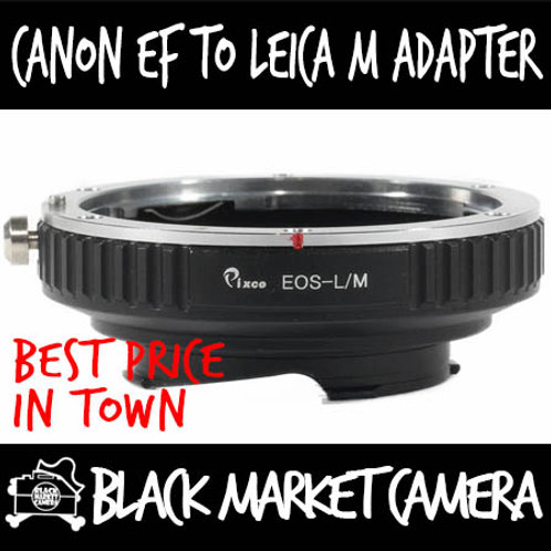 Canon EF Lens to Leica M Body Adapter