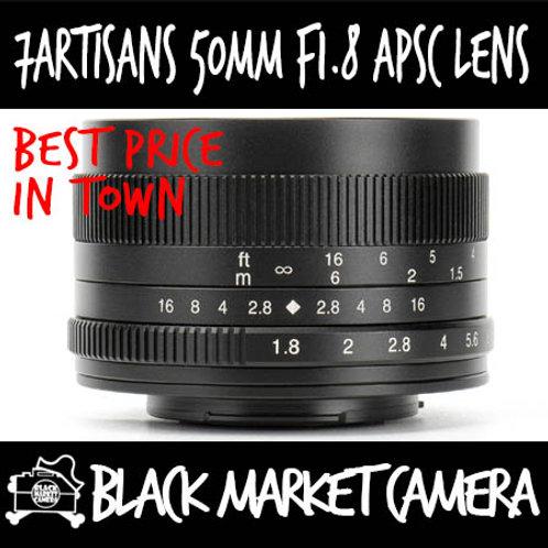 7Artisans 50mm F1.8 APSC Micro 4/3 Mount