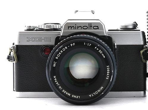 Minolta XG-E Film SLR Silver (used)