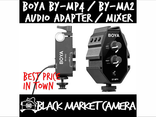 BOYA BY-MA2 Audio Mixer / BY-MP4 Audio Adapter