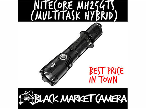 NITECORE MH25GTS 1800 Lumens High Performance Dual-Fuel Tactical Flashlight