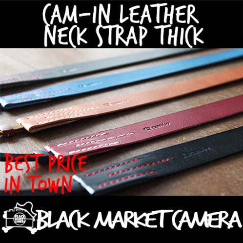 Cam-in Leather Neck Strap Thick