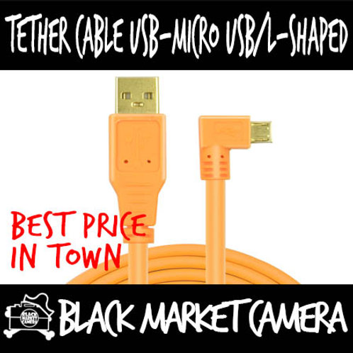 Yellowknife Tether Cable USB - Micro USB L-Shape (1.5m/3m/5m/8m/10m)