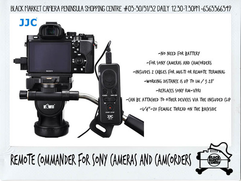 JJC Remote Commander for Sony Cameras and Camcorders