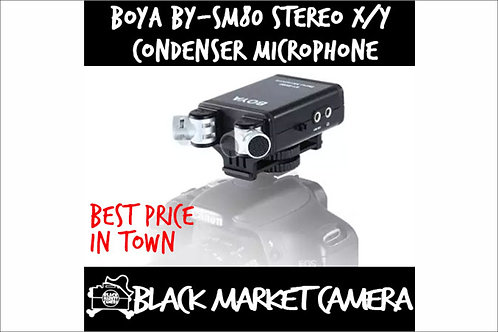BOYA BY-SM80 High-quality Stereo Microphone for DSLR Cameras and Video Cameras